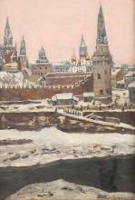 APOLLINARI MICHAILOWITSCH WASNEZOW 1856 Rjabowo/ bei Wjatka - 1933 Moskau Ansicht des Moskauer Kremls