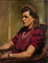 SERGEJ ROMANOWITSCH BONGART 1918 Kiew - 1985 Los Angeles Frauenportrait