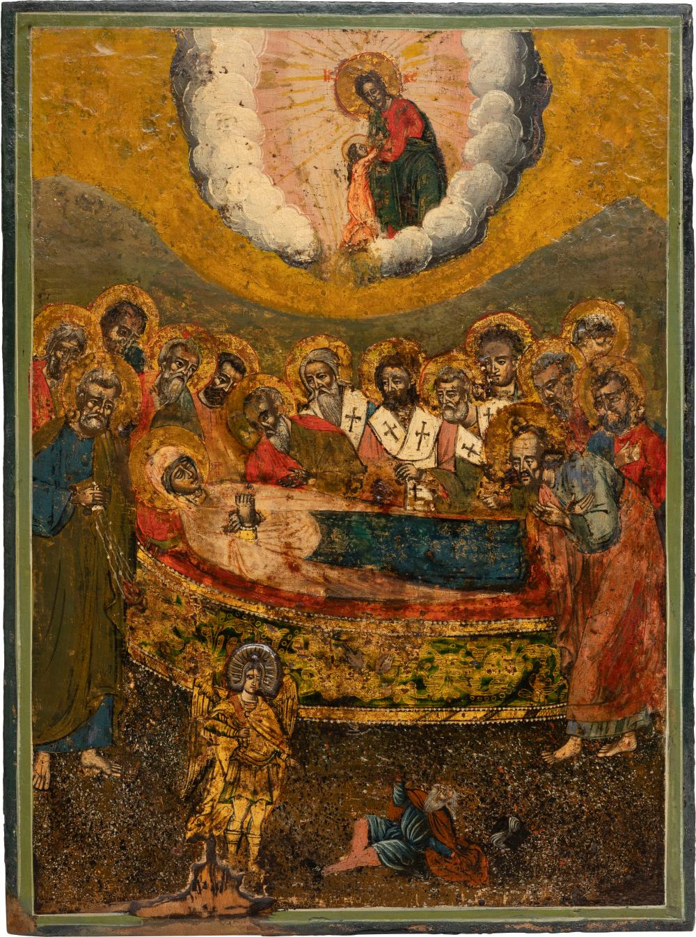 A MELCHITE ICON SHOWING THE DORMITION OF THE MOTHER OF GOD