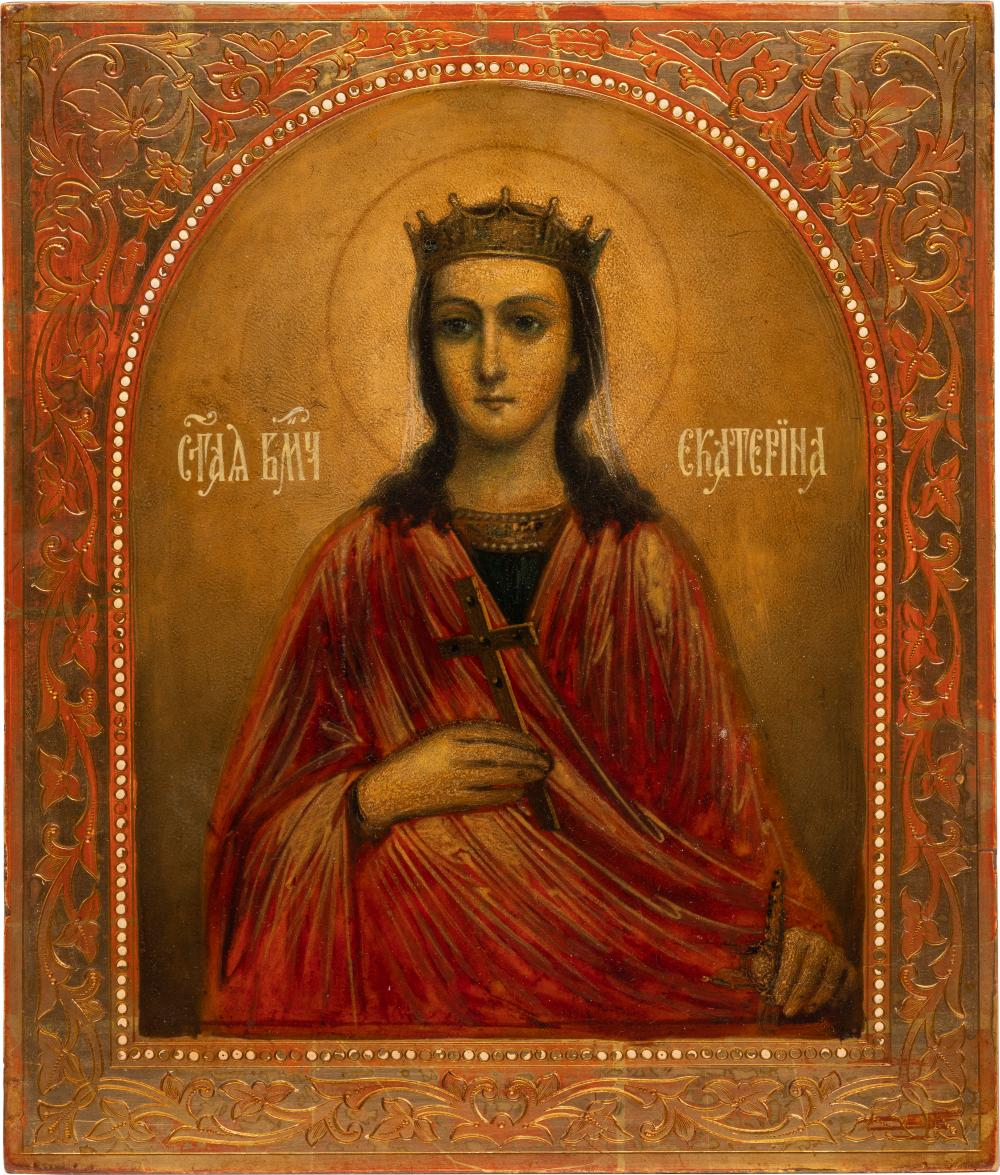 AN ICON SHOWING ST. CATHERINE
