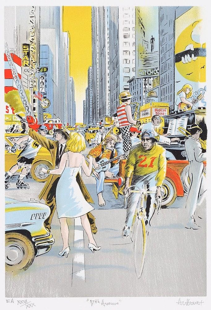 *** AUTHOUART, DANIEL 1943 Lillebonne - lebt und arbeitet in Rouen