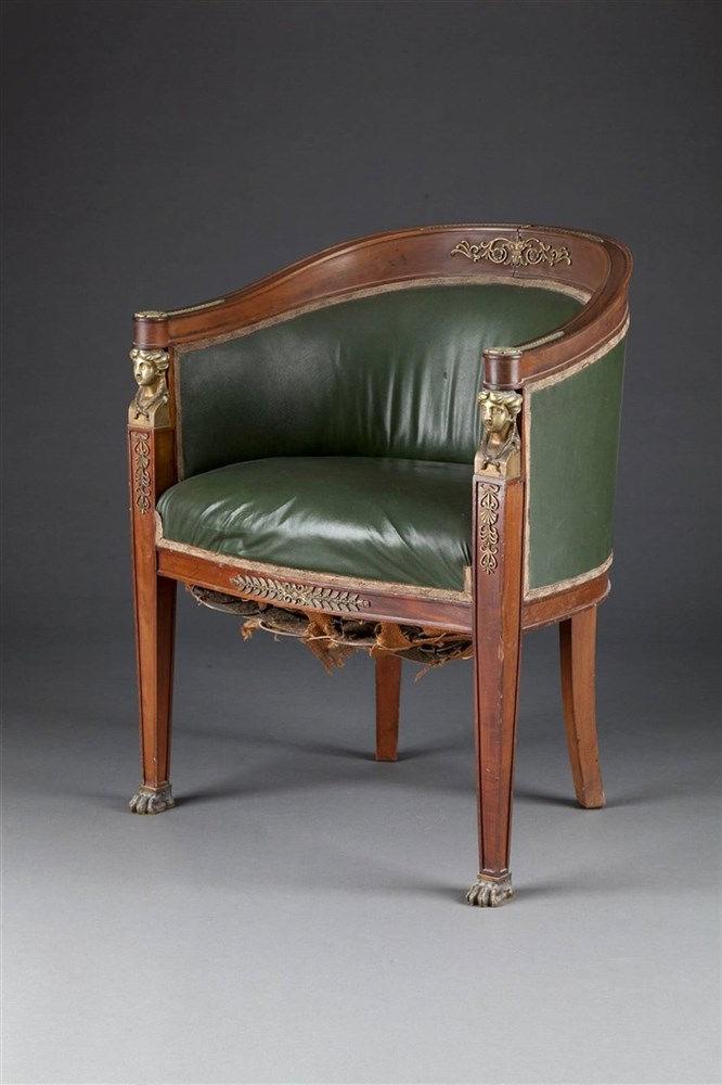 sessel im empire stil. Black Bedroom Furniture Sets. Home Design Ideas