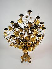Antique French Gilt Bronze Eleven Light 34 Inch Candelabra