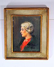 American or British School (20th Cent.) Portrait of  Lady
