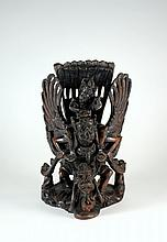 Balinese Asian 12 Inch Wood Carving Sculpture of Diety Figures