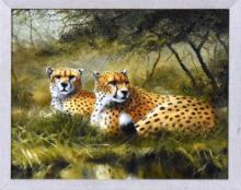 "Grant Hacking (American, Contemporary) ""Cheetahs"""