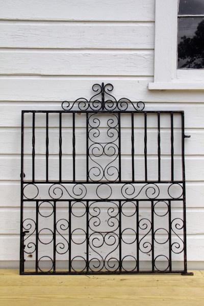 329. Ornate Circle & Scroll Iron Gate