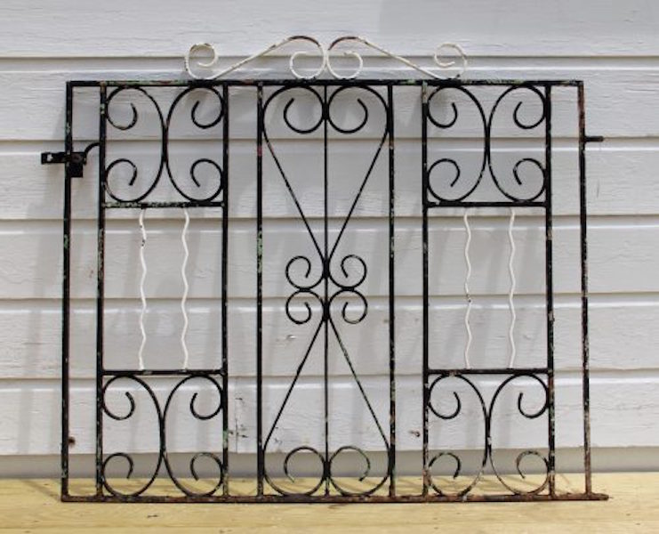 328. Antique Cast Iron Gate