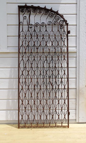 327. Unusual Antique Cast Iron Gate Door