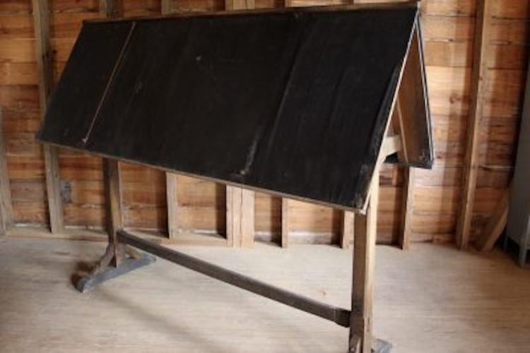 320. French Oak Drafting Table