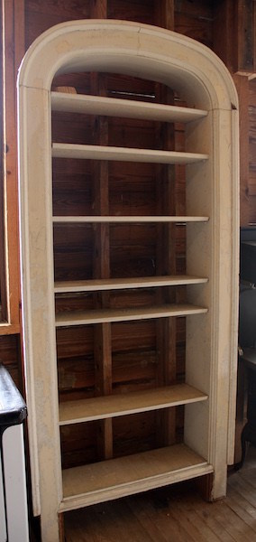 316. Pair of Built-in Arch Top Bookcases