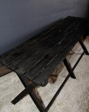 308. Vintage Slat Top Folding Picnic Bench