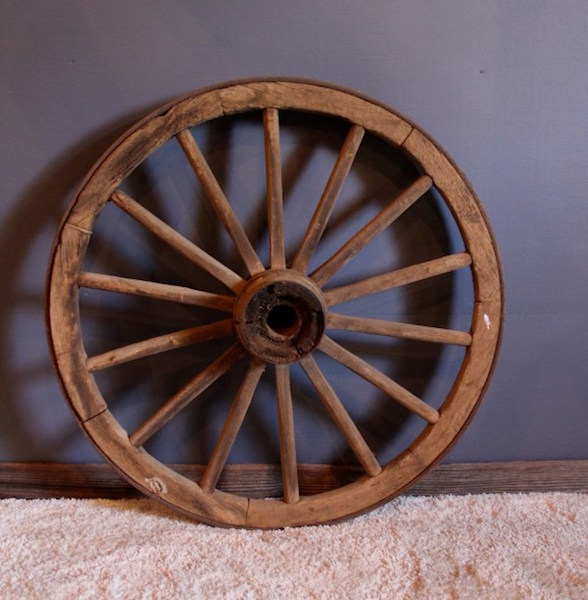 296. Vintage Wagon Wheel