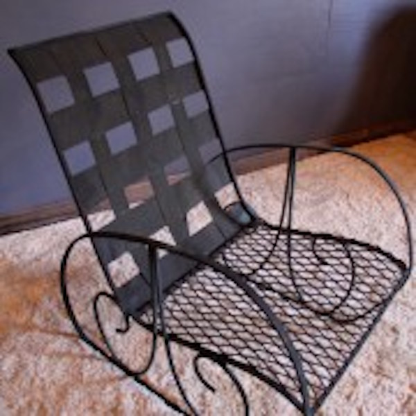 294. Unusual Pair of Iron Lounge Chairs