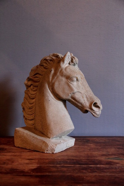 287. Cement Horse Head