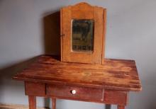 264. Hanging Oak Medicine Cabinet