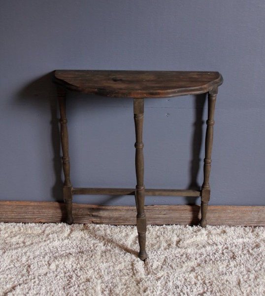 260. Pine Demilune Table