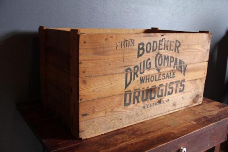 253. Bodeker Drug Co. Bitters Crate