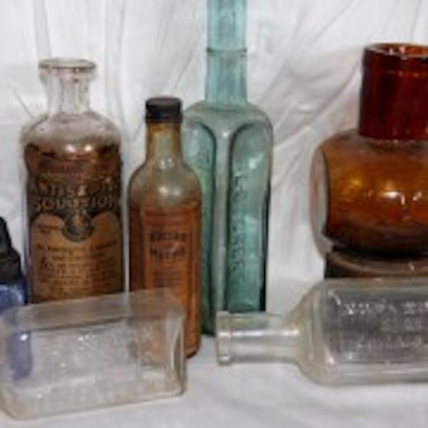 250. 12 Vintage Dairy & Medicinal Bottles