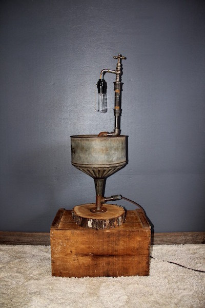 241. Steampunk Oil Funnel, Spigot Lamp