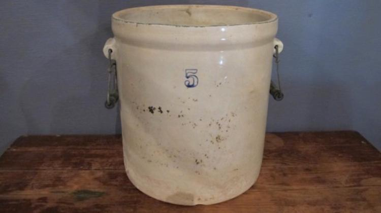 236. 5 Gallon Stoneware Crock