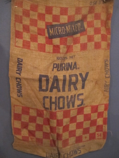 202. Two Purina Dairy Chow Feed Sacks