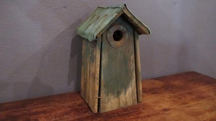 196. Primitive Tall Bird House