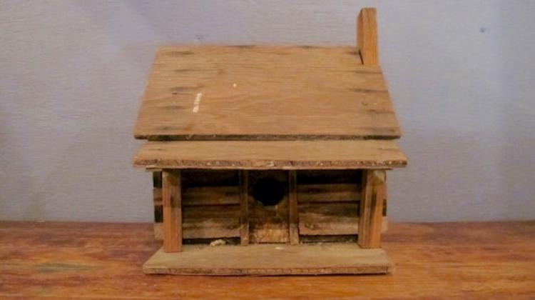 195. Primitive Folk Art Bird House