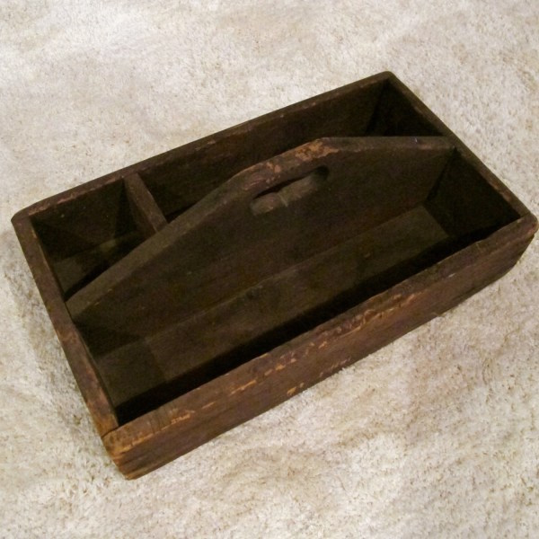 193. Wooden Craftsman's Tool Caddy