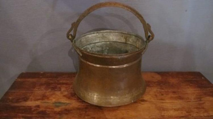 187. Antique Hand Forged Copper Pot
