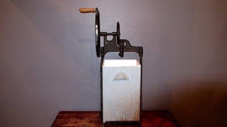 78. 1919 Dazey Metal Butter Churn