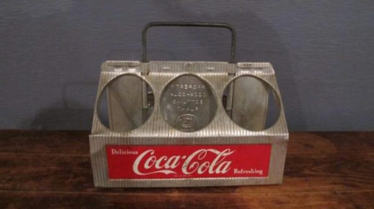 88. Aluminum 6 Pack Coca-Cola Carrier