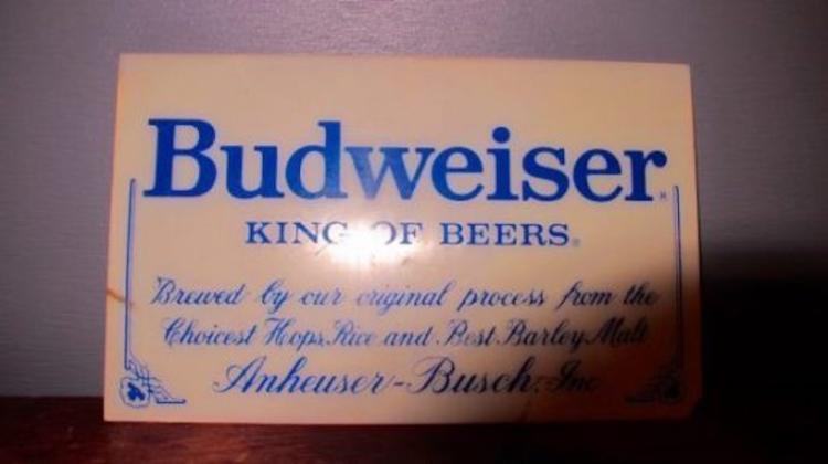 89. Budweiser Display Acrylic Face Plate