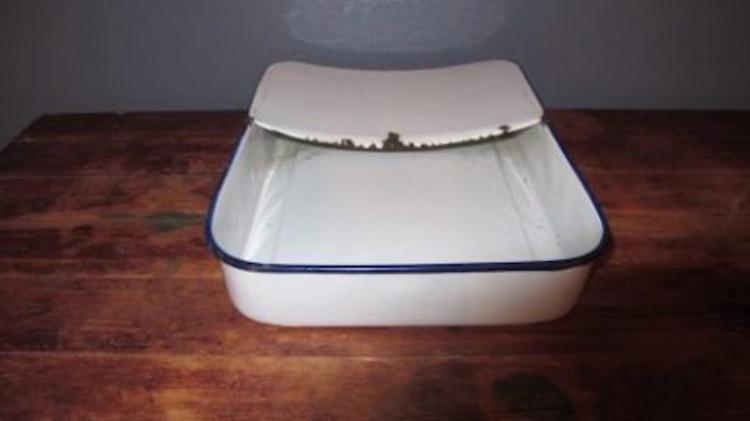 92. Two Enamelware Utilitarian Pans