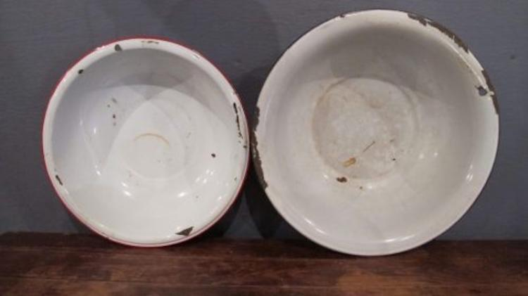 93.  Two Enamelware Pans