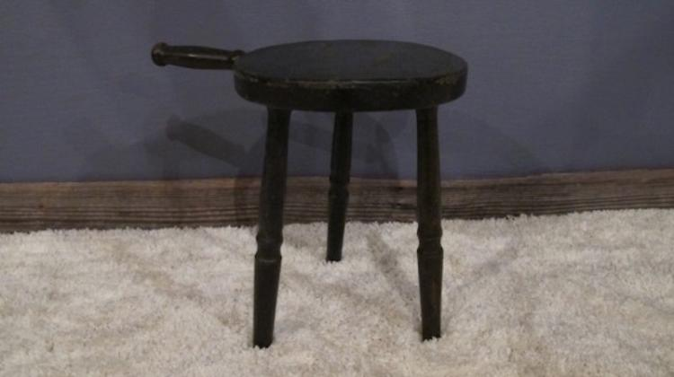 94.  Primitive 3-Legged Milk Stool