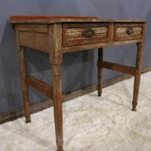 4. Red Painted Station Clerk's Desk