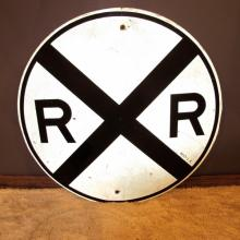 14. Railroad Crossing Street Sign