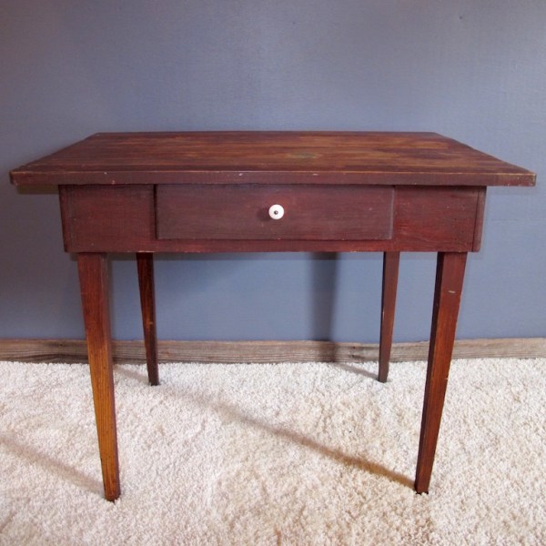 20. 1900s Primitive One Drawer Stand \ Table