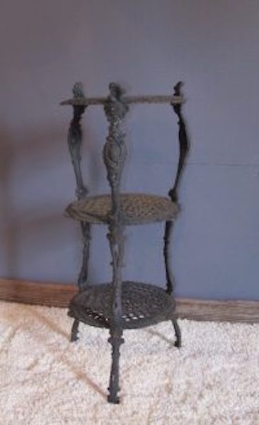 22. Three Tier Cast Plant Stand