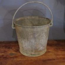 28. Heavy Galvanized Farm Bucket