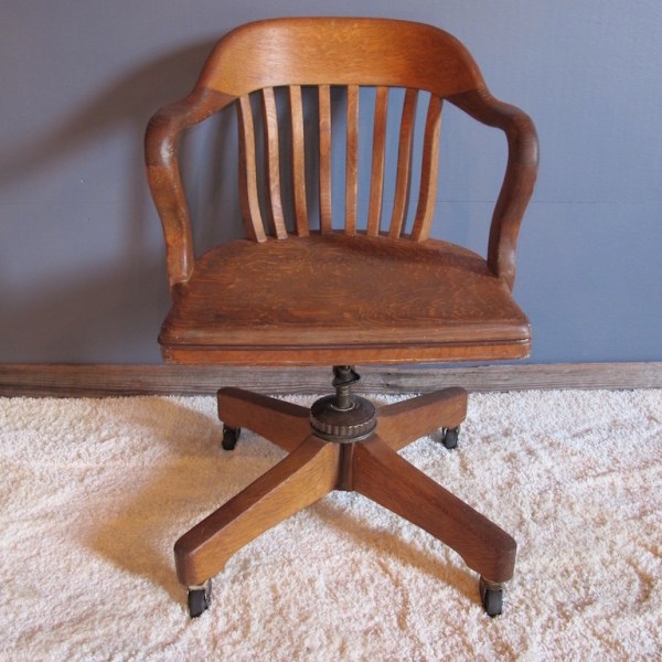 35. Machine Age Oak Office Arm Chair