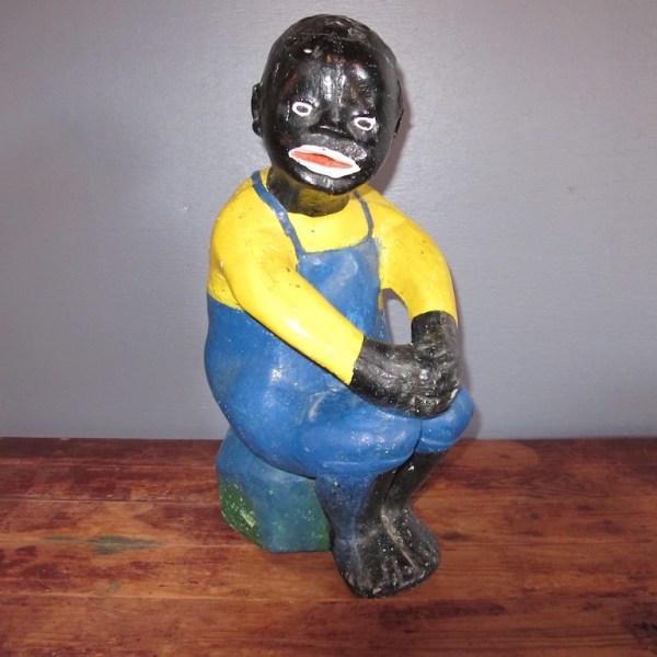 42. 40s Black Americana Cement Statue
