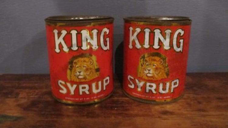 143. Pair of King's Syrup Canisters