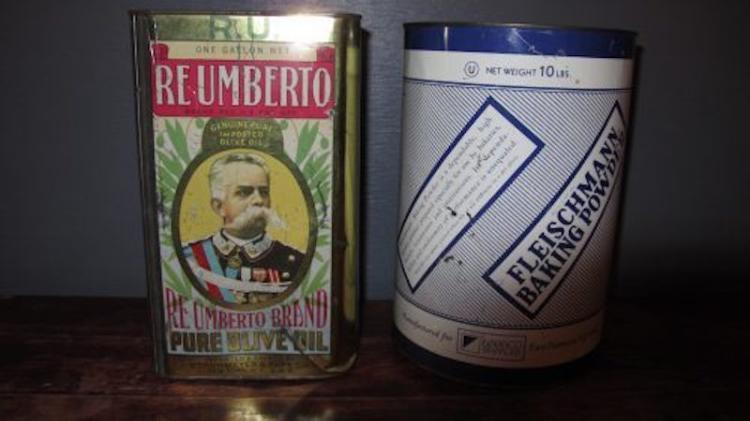 145. Two Vintage Advertising Tins
