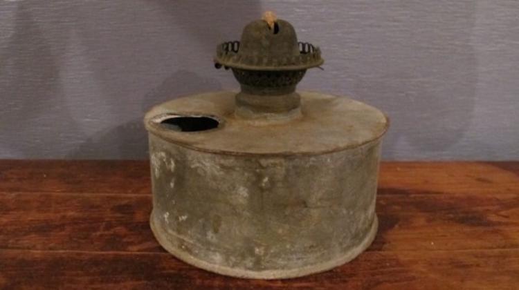 147. Primitive Galvanized Tin Lamp