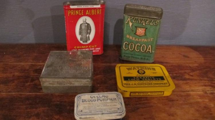 151. Lot of Vintage Advertising Tins