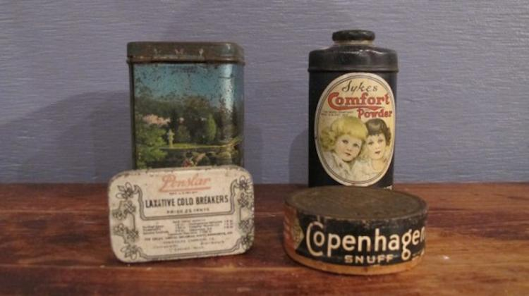 152. Four Vintage Advertising Tins