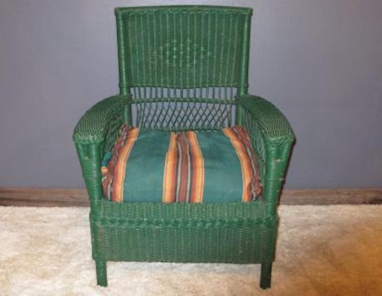 157. Antique Arts & Crafts Wicker Chair