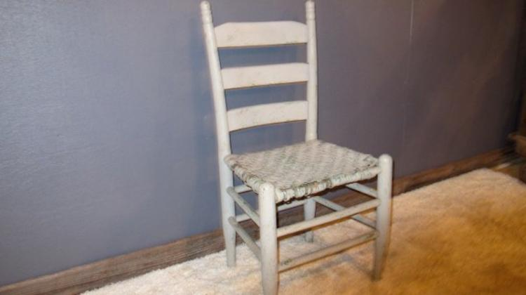 162. Ladderback Cane Bottom Farm Chair